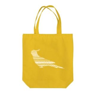 オカメインコ白 Tote bags