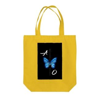 青い蝶 BUTTERFLY  EFFECT Tote bags