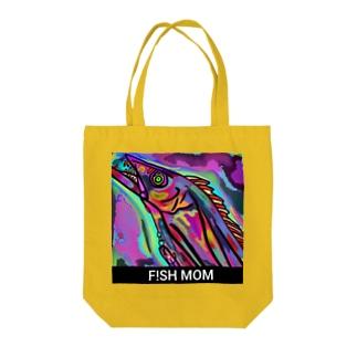 F!SH MOM「タチウオ」ロゴ入り Tote bags