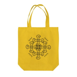 lyricchordクロス黒ライン/ドローイングアートトート Tote bags