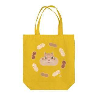 ぷくぷくリス Tote bags