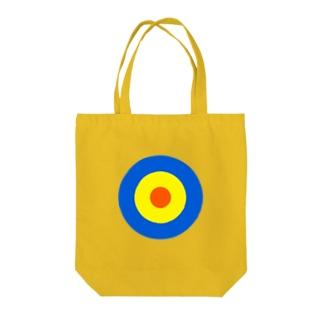 サークルa・青・黄・オレンジ Tote bags