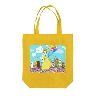 クマさん行進曲 Tote bags