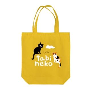 たびねこ- ロゴマーク Tote bags