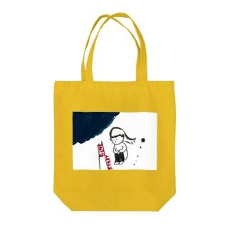 スタートライン Tote bags