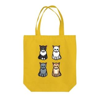エジプト座りしながら様子を伺う猫 Tote bags