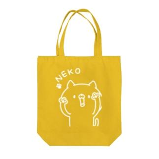 NEKO(白) Tote bags