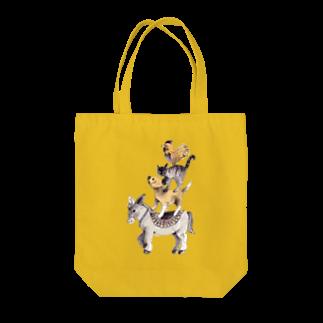 キムラトモミのブレーメンの音楽隊 Tote bags