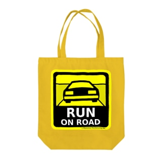 RUN ON ROAD Tote bags