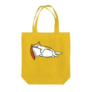 猫抱け/エリンギ Tote bags
