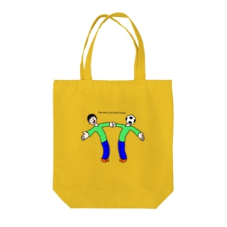 The ball is my best friend ボールは友達 Tote bags