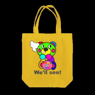 オリジナルデザインTシャツ SMOKIN'の一服モクモックマ  カラフル オリジナルアイテム  Tote bags