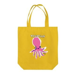 タコさんソロダンス(ピンク) Tote bags