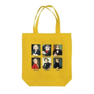 ドット 音楽室の肖像画 Tote bags
