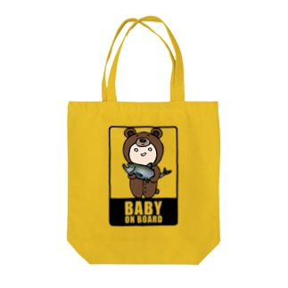 BABY on Board (くま) Tote bags