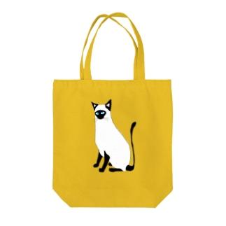 青い目のシャム猫 Tote bags