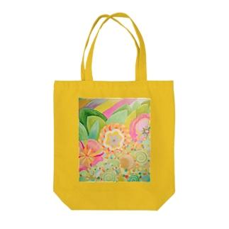 色とりどりの花 Tote bags