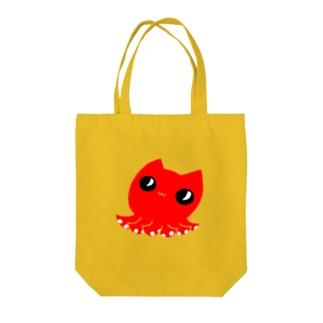 たこねこ(主線無) Tote bags