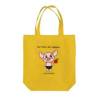 EAT FOOD NOT ANIMALS Tote bags