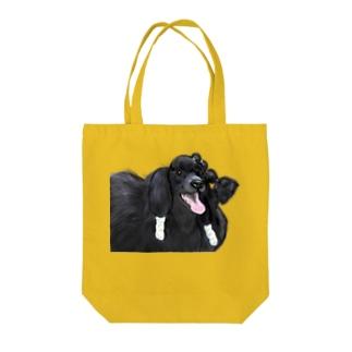 black poodle トートバッグ