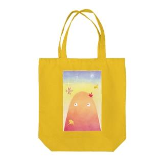 秋山さん Tote bags