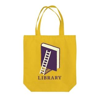 本のライブラリー Tote bags