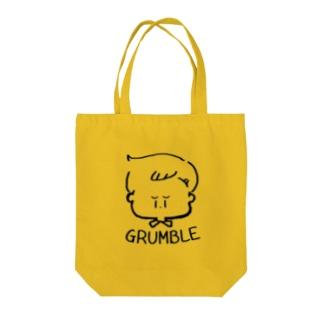 GRUMBLE BOY Tote bags