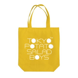 東京ポテトサラダボーイズ公式ショップの東京ポテトサラダボーイズ公式ネオクラシック(白)ロゴ Tote bags