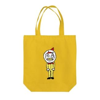 ニワトリみたいなエリザちゃん Tote bags