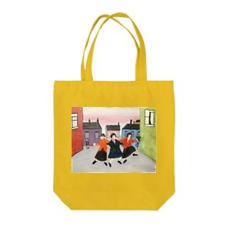 日本での色合い、空間そして時の中のラウリー:Lowry in Japanese color, space, and time Tote bags