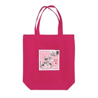 桃の花の下で Tote bags
