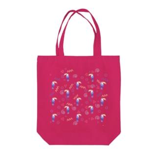 トロピカルバード Tote bags