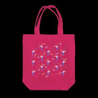Fanfleecyのトロピカルバード Tote bags