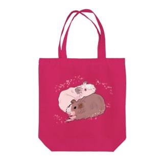 スキニーギニアピッグさん Tote bags