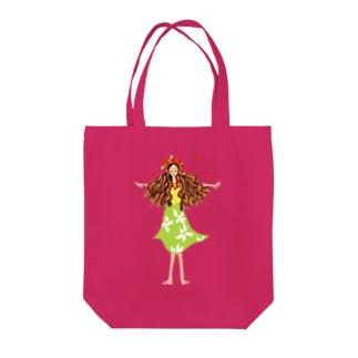 フラガールちゃん Tote bags