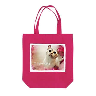 I love cats ① Tote bags