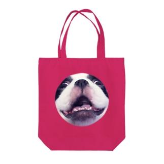 ちんのへんなかお Tote bags