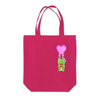 ハートチャーム Tote bags