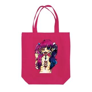 コルセットピアス Tote bags