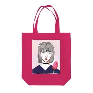 無言の花 Tote bags