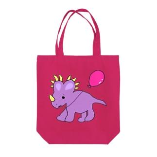 スティラコサウルスのラベンダー。 Tote bags