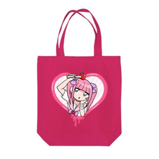 ハートウィンドウ Tote bags