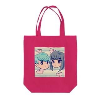 レトロメルヘンな男女 Tote bags