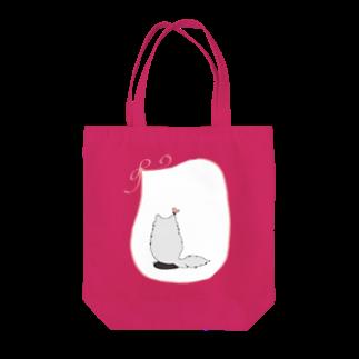 木ノ下商店の猫とリボンとちょうちょ Tote bags