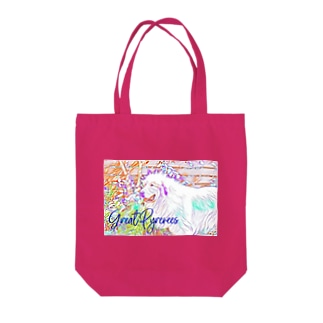Great Pyrenees colorful 1 Tote bags