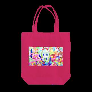 shu-shuの水彩イラスト パンダ Tote bags