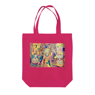 tomo4のオンナノコ Tote bags
