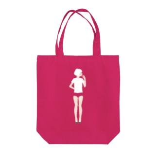 【濃色推奨】ブルマ女子 Tote bags