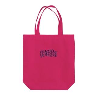 FEMININE navy Tote bags