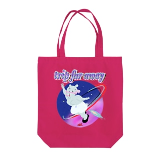 trip far away Tote bags